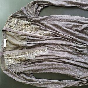 Shimmery flowy sweater